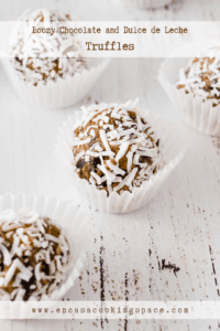 Boozy Truffles with Dulce de Leche, Chocolate, Walnuts and Coconut
