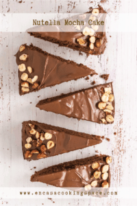 Mocha Cake with Nutella and roasted hazelnuts.
