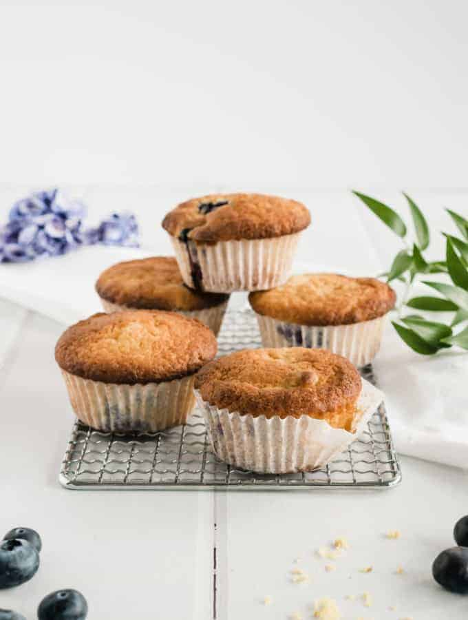 These Blueberry Muffins with natural yogurt are unbeatable: fluffy, tender, sweet juicy blueberries and a dash of lemony spark.
