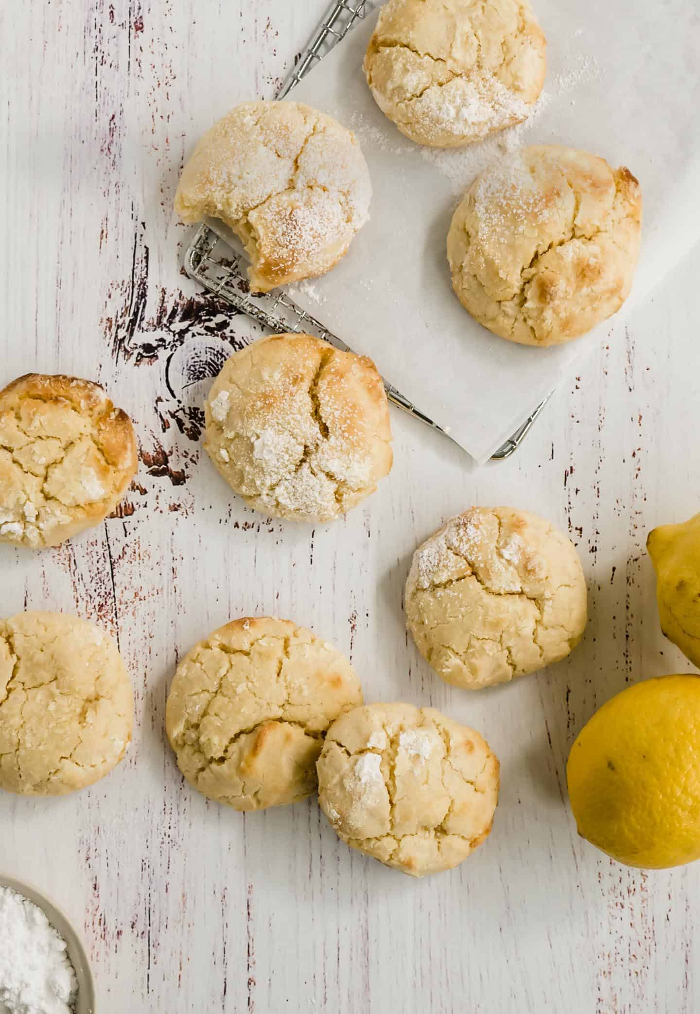 If you are into lemon, you'll love these made-from-scratch Lemon Crinkle Cookies. Chewy center and slightly crispy edges that melt in your mouth.