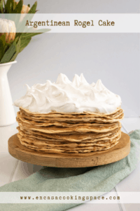 Rogel with lots of dulce de leche and Swiss meringue