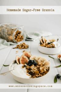 Homemade Granola Breakfast with Greek Yogurt and Fruit