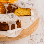 Orange and Poppyseeds Cake with Glacé and Candied Oranges
